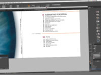 Image of a magazine layout on a computer monitor